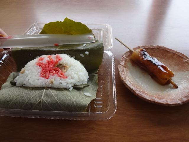 朴葉寿司とみたらし団子