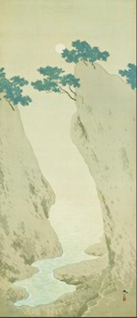菱田春草「五浦ノ月」 (2)