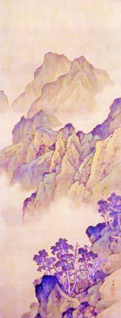 高島北海 (1850-1931)峭壁摩天 断層夾波 (2)