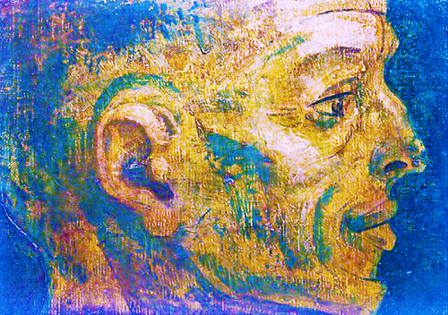 松本 竣介 (1949)顔の研究(踏切番の顔)2