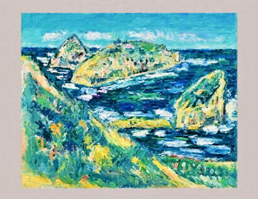 小林和作 (1888(明治21)年-1974(昭和49)年)隠岐白島 (2)