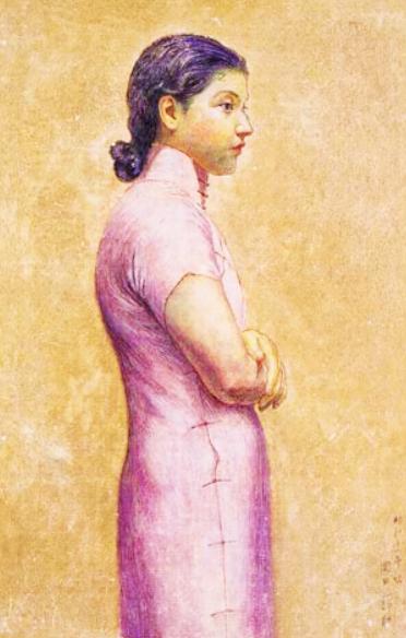 岡田三郎助 (1869-1939)婦人半身像 (2)