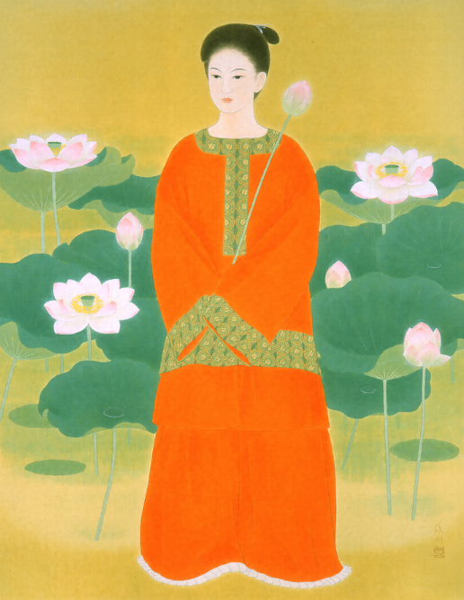 大野 俊明 (1948年(昭和23)~)万葉日本画24 清隅の