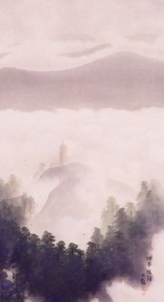 横山大観 絹本著色瀟湘八景図3 (2)