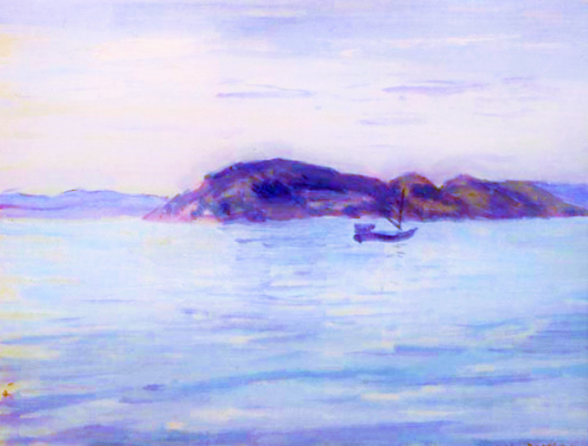 小林万吾 (1870-1947)内海の小島 (3)
