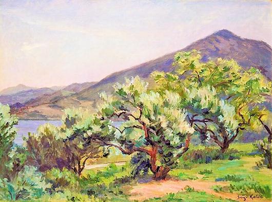 加藤静児 (1887-1942年)オリーブ畑 (2)
