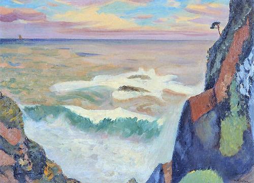 藤島武二 (1867-1943)大王岬に打ち寄せる怒濤 (3)