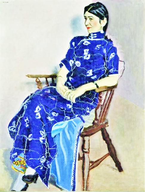 安井曽太郎 (1888-1955)金蓉 (2)