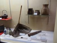 魚捕りに関する道具の展示