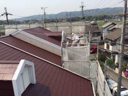 東大阪市 屋根塗装工事 遮熱