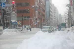札幌は今日も雪だった