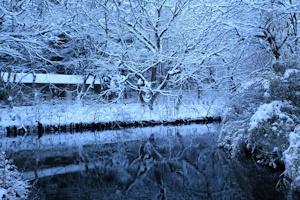 雪の夕暮れ