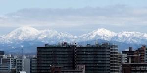 札幌から見える雪山その2