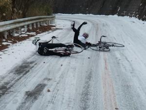 凍結路面の恐怖