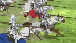 イギリス軍騎馬突撃