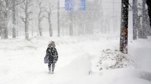 暴風雪の北海道