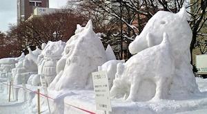 小さい雪像群その2
