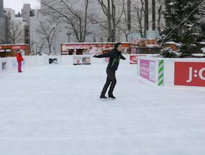 西1丁目のスケートリンク