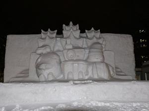 西6丁目中雪像