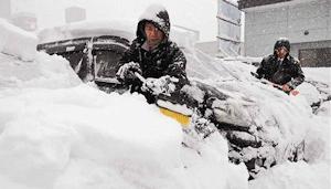 道東で暴風雪