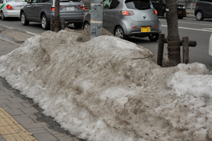 雪解け進む札幌