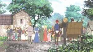 村に迎えられるマリア