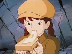 ラピュタパンを食べるシータ