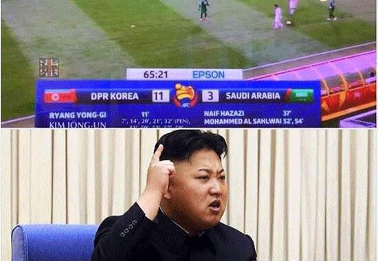 north korea saudi arabia football Kim Jong Un