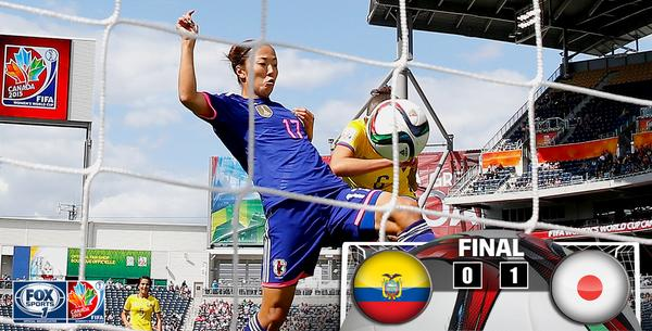 #JPN defeats #ECU 1-0