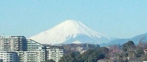 我が家から見える富士山