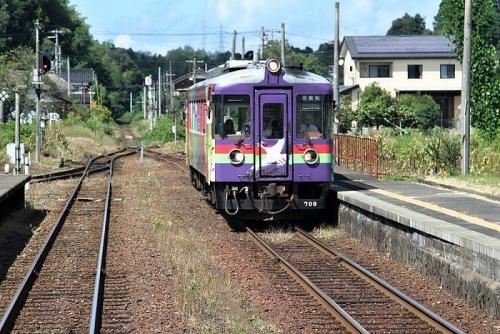 普通電車と離合