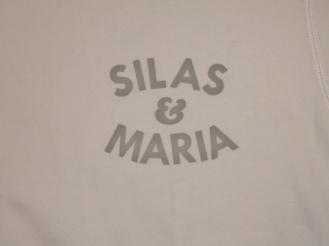 SILAS SILAS&M CREW NECK SWEAT WHITE FT2