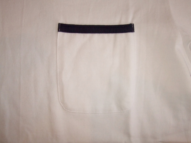 SILAS PIPING POCKET TEE WHITE FT2