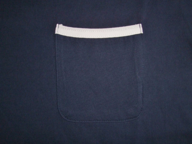 SILAS PIPING POCKET TEE NAVY FT2