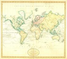 1800年ごろの世界地図