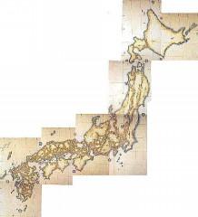 1800年ごろの日本地図