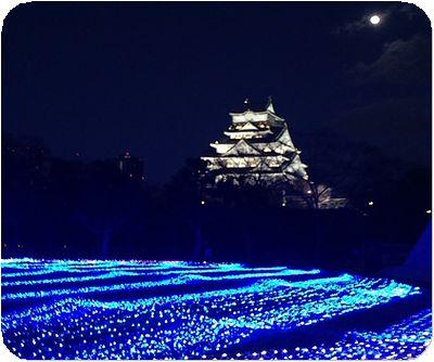 大阪城3Dマッピングイルミ城
