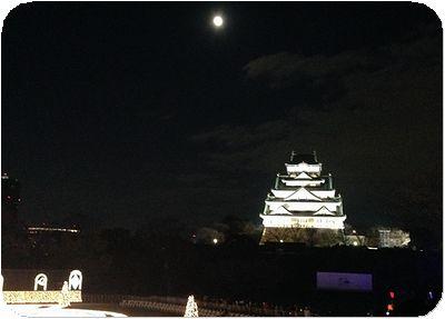 大阪城3Dマッピングジュエル城