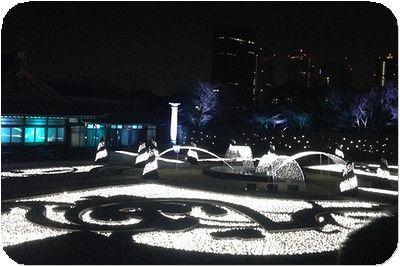 大阪城3Dマッピングジュエル白