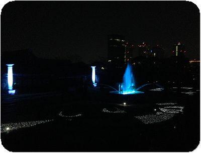 大阪城3Dマッピングジュエル噴水