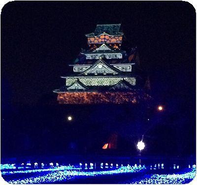 大阪城3Dマッピング1