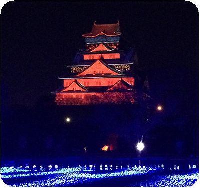 大阪城3Dマッピング2