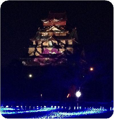 大阪城3Dマッピング3