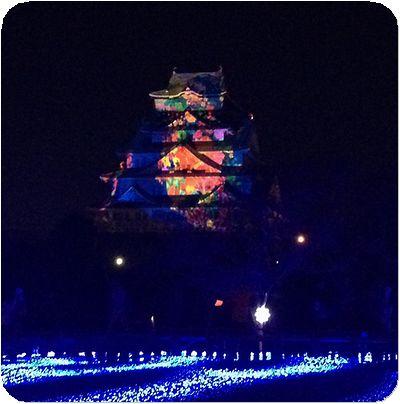 大阪城3Dマッピング4