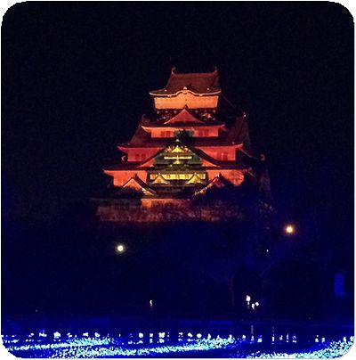 大阪城3Dマッピング5