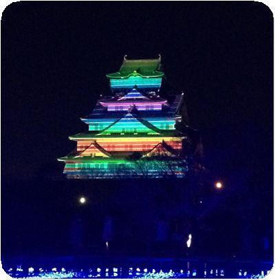 大阪城3Dマッピング6