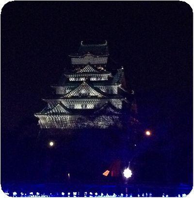 大阪城3Dマッピング8