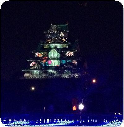 大阪城3Dマッピング9