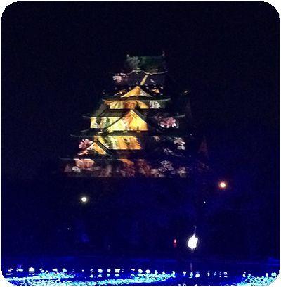 大阪城3Dマッピング10