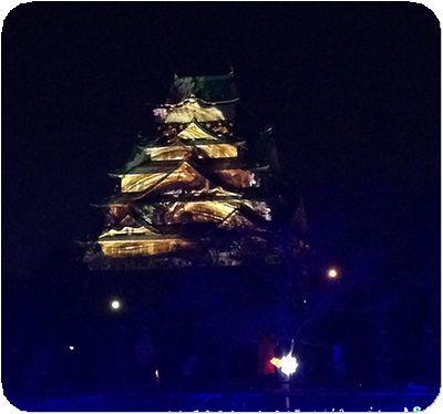 大阪城3Dマッピング11